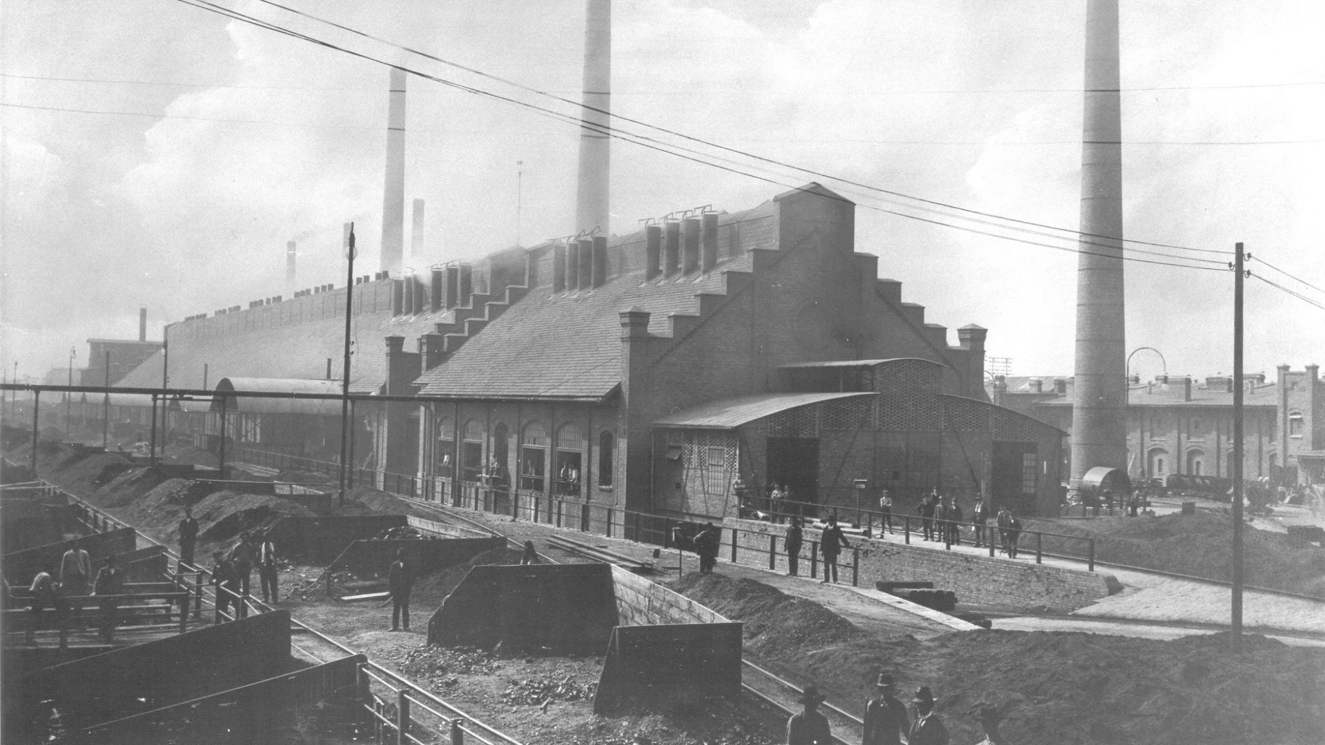 The scheme is on the site of a former zinc factory (photo from the archives of Zakłady Metalurgiczne Silesia)