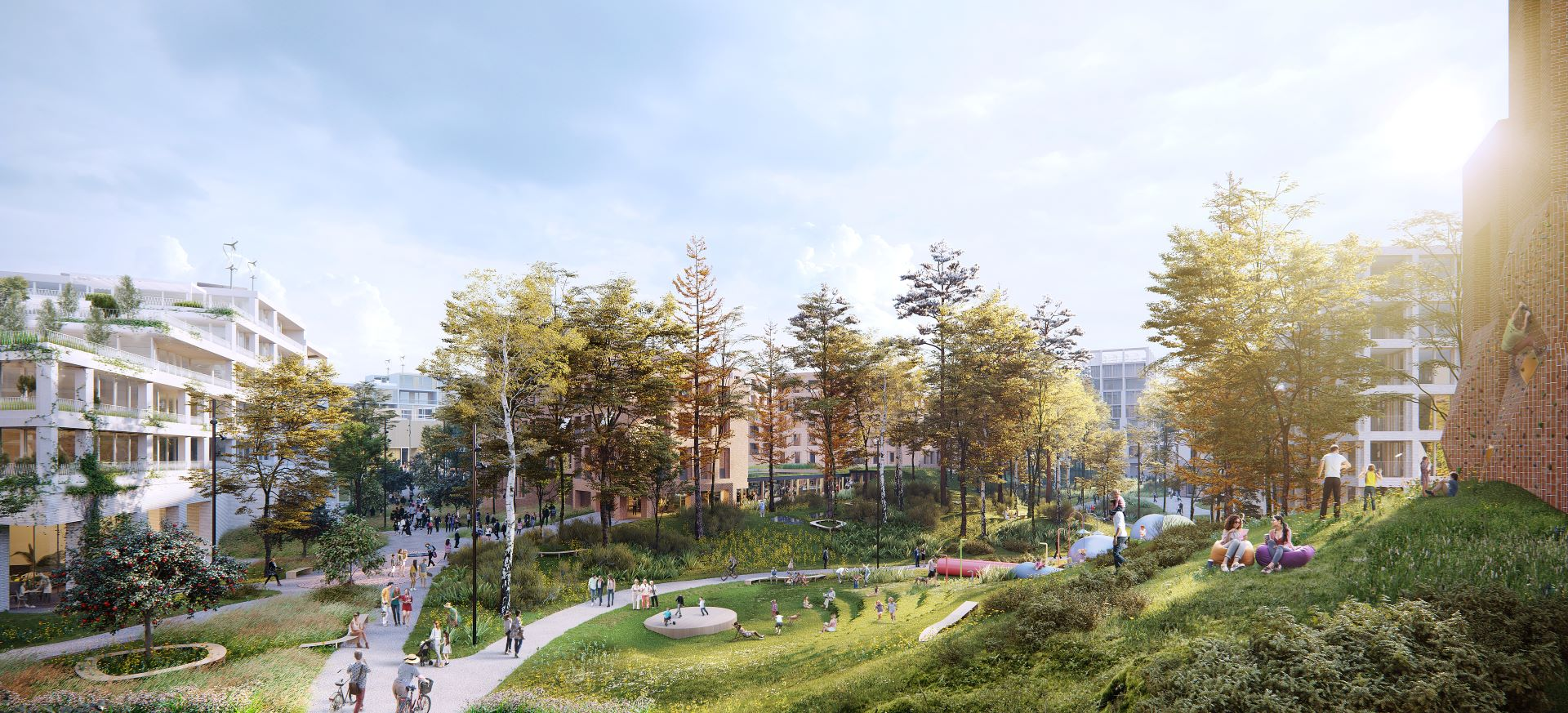 In the centre of Nowy Wełnowiec will be a 4-ha park. Over 4000 trees will be planted in the scheme.