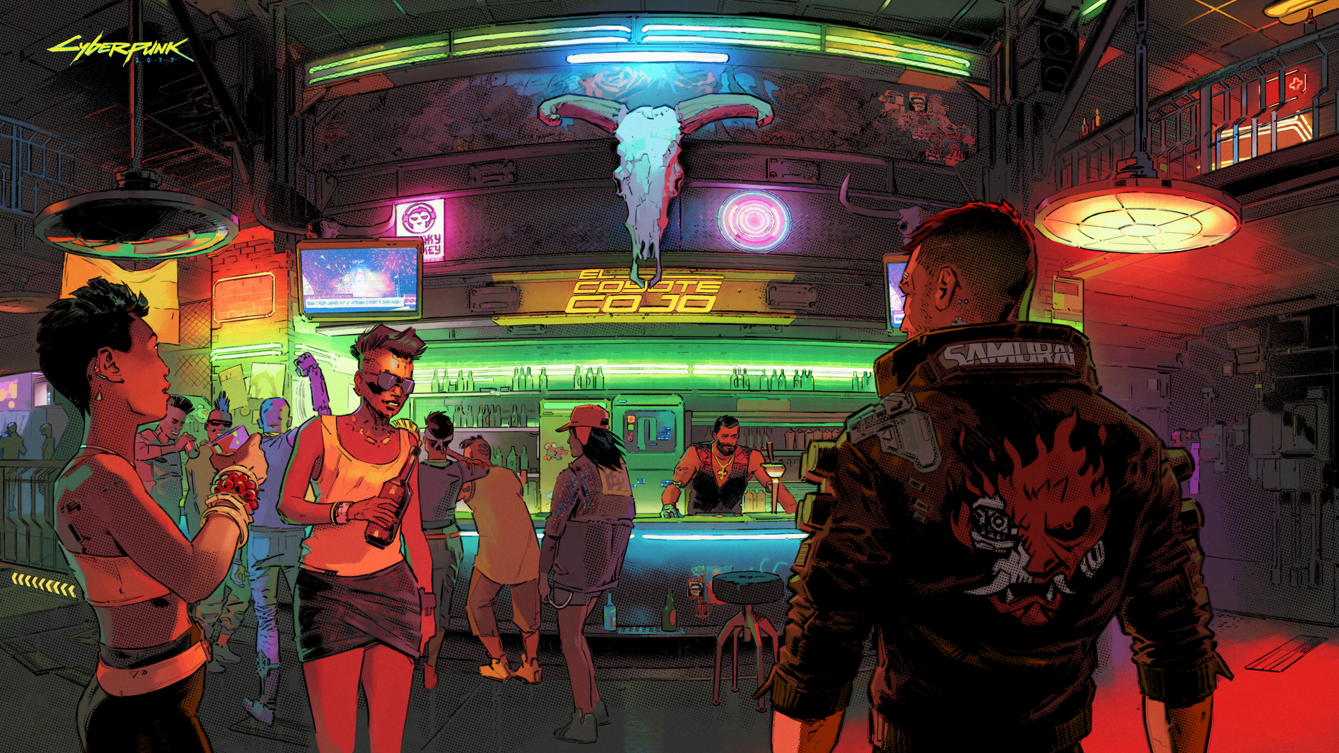 Image from video game Cyberpunk 2077, courtesy of CD Projekt